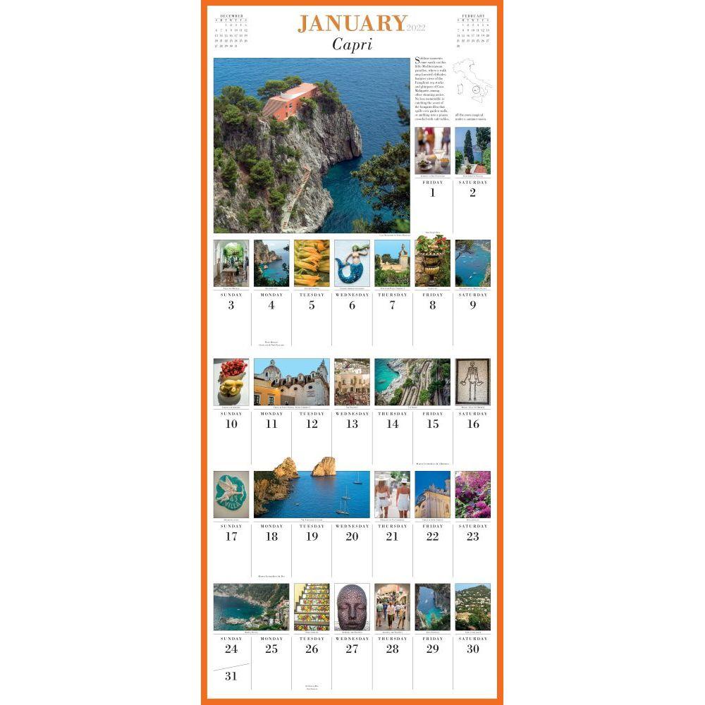 365 Days in Italy 2022 Wall Calendar