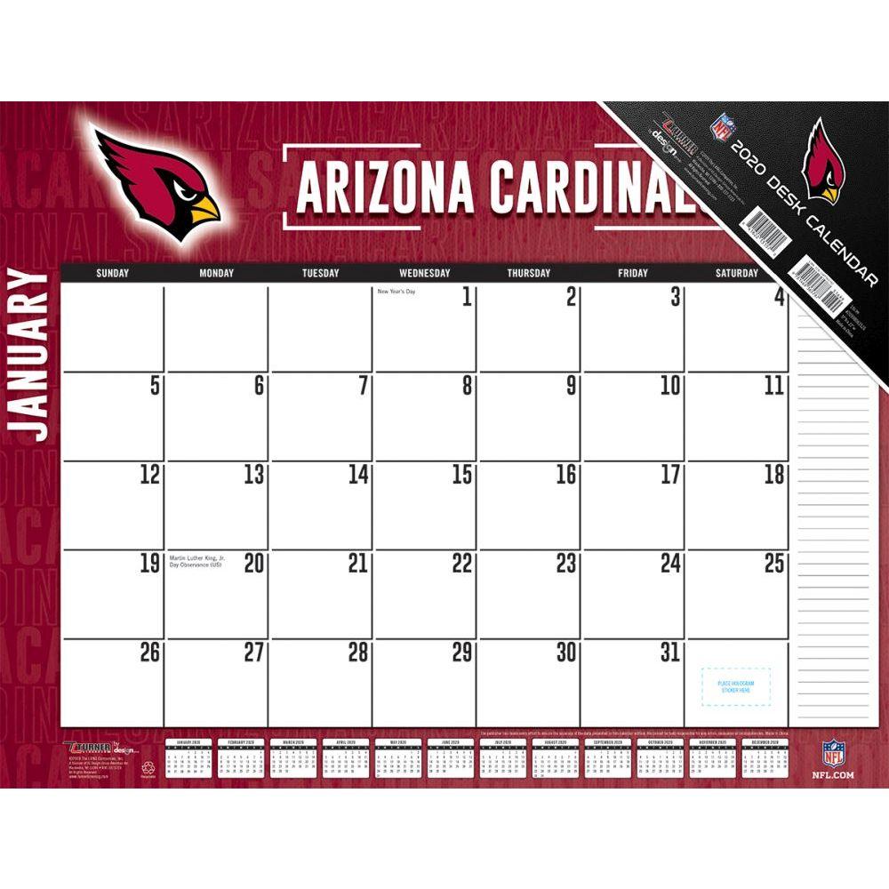 Arizona Cardinals 2021 Desk Pad
