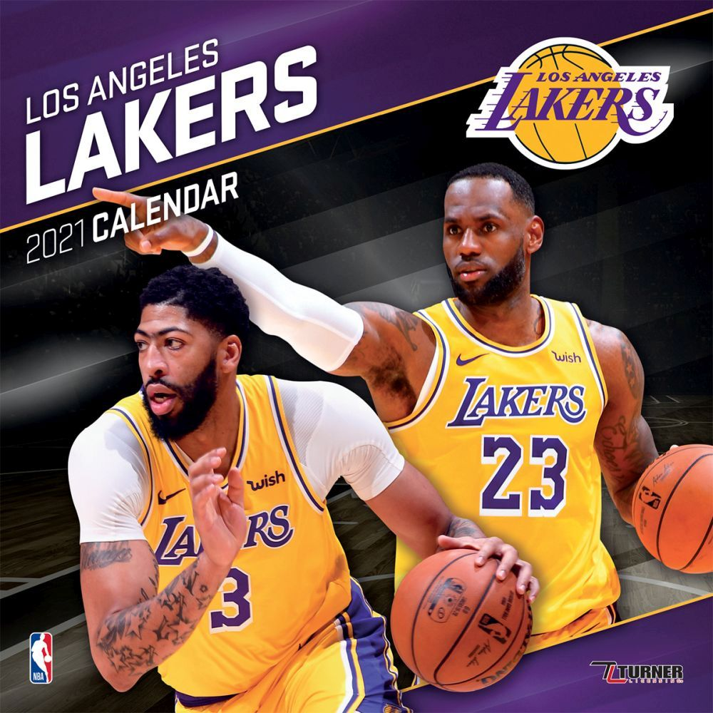 2021 Los Angeles Lakers Wall Calendar