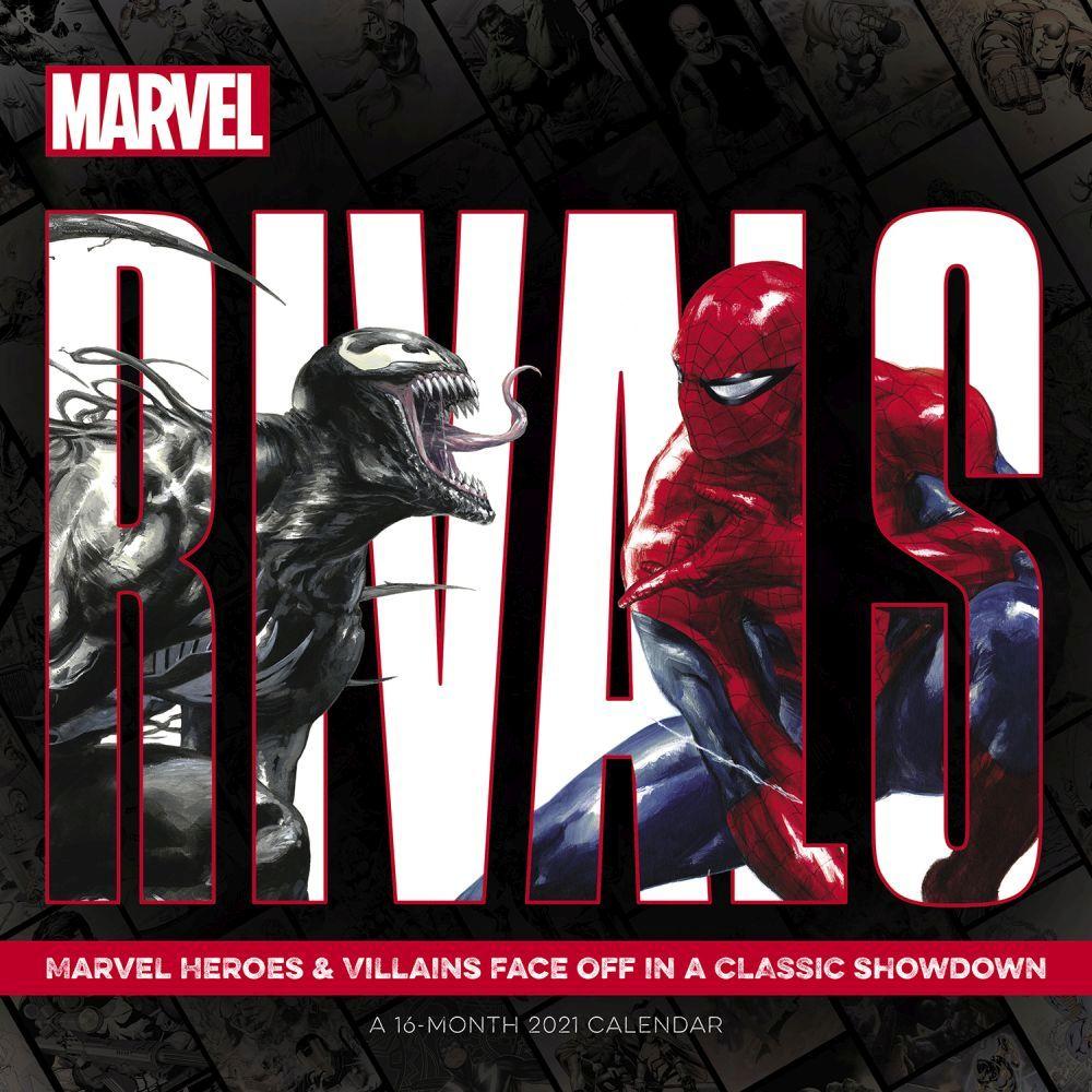 Good vs Evil Marvel Wall Calendar