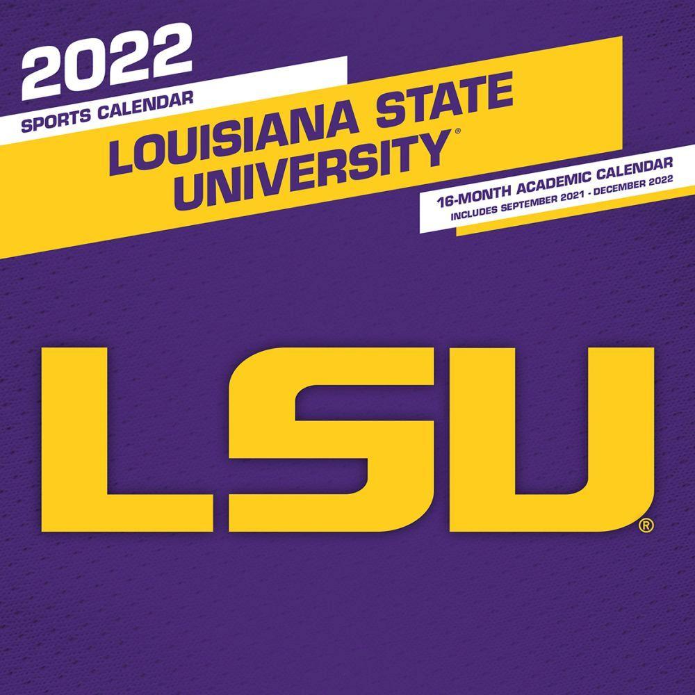 Louisiana State University Tiger Football 2022 Wall Calendar