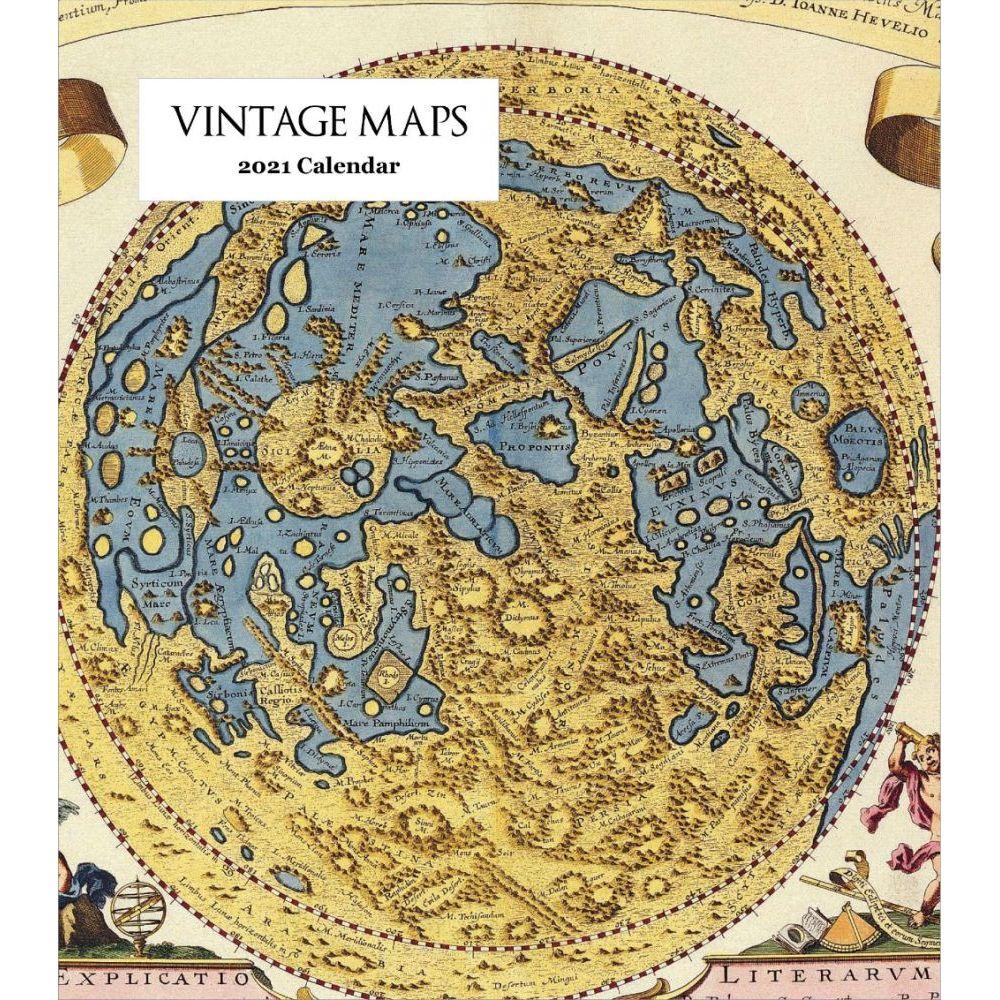 2021 Vintage Maps Easel Calendar