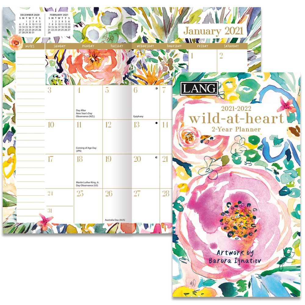 Wild At Heart Two Year Planner