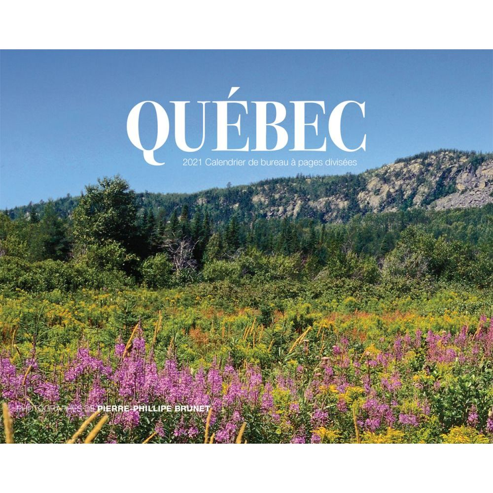 2021 Quebec Double Easel Calendar (French)