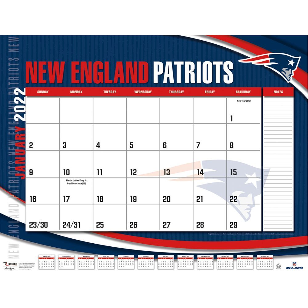 New England Patriots 2022 Desk Pad