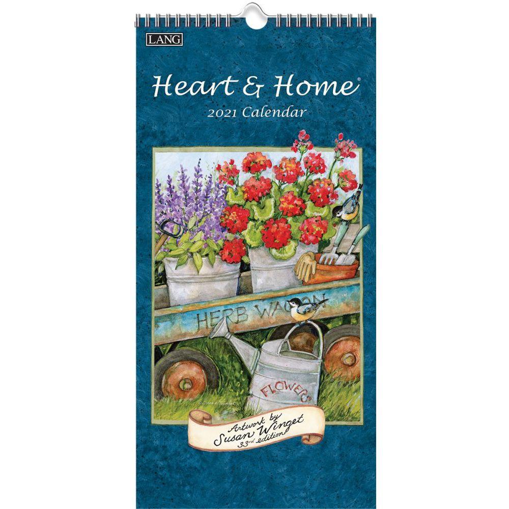 2021 Heart & Home Vertical Wall Calendar by Susan Winget