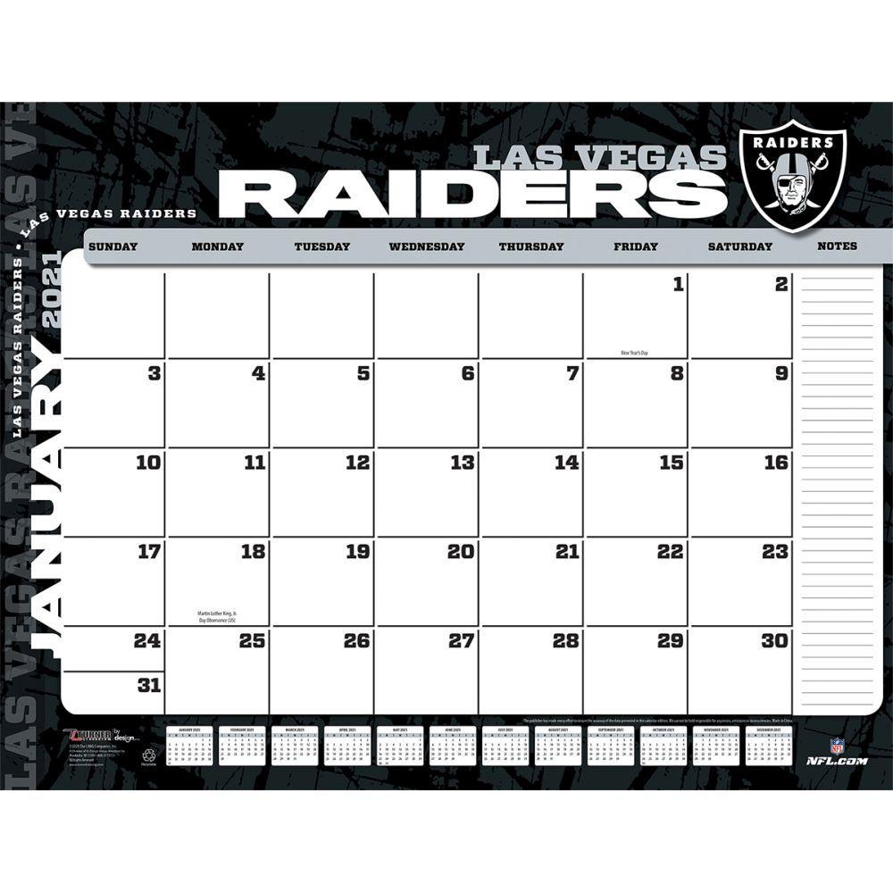 Las Vegas Raiders 2021 Desk Pad