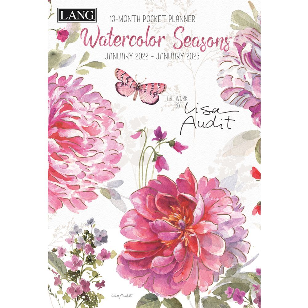 Watercolor Seasons 2022 Monthly Pocket Planner