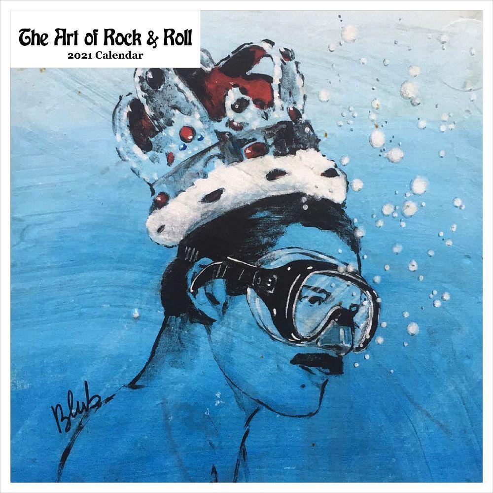 2021 Art of Rock & Roll Wall Calendar