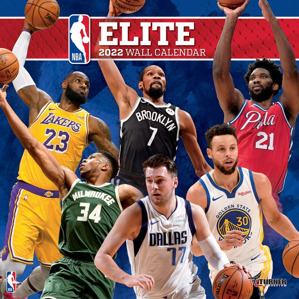 NBA Elite 2022 Wall Calendar