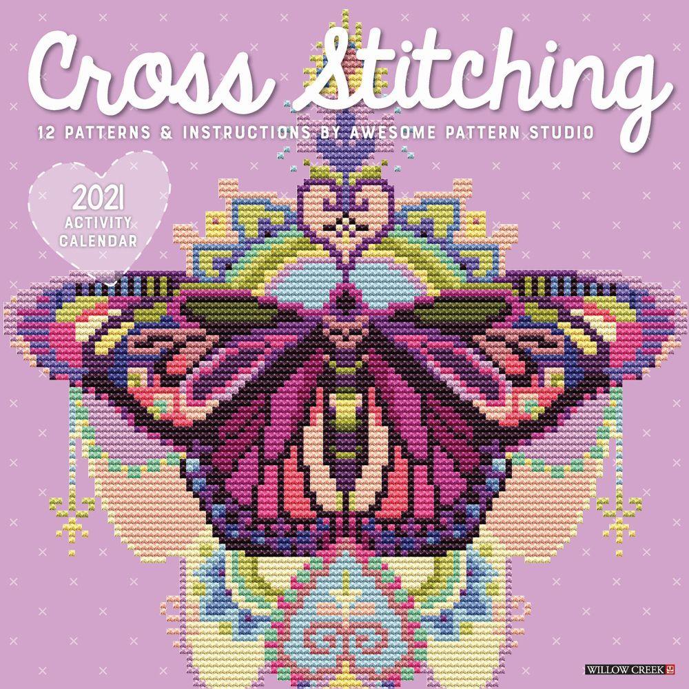 Cross Stitching 2021 Wall Calendar
