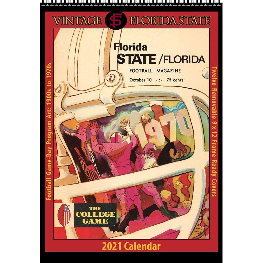 Vintage Florida State Seminoles Football 2021 Poster Calendar