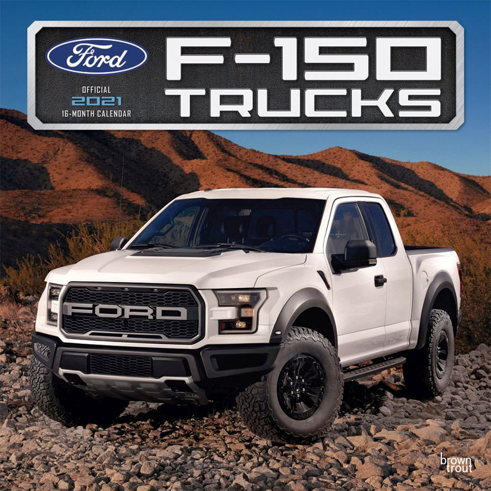 2021 Ford F150 Trucks Wall Calendar
