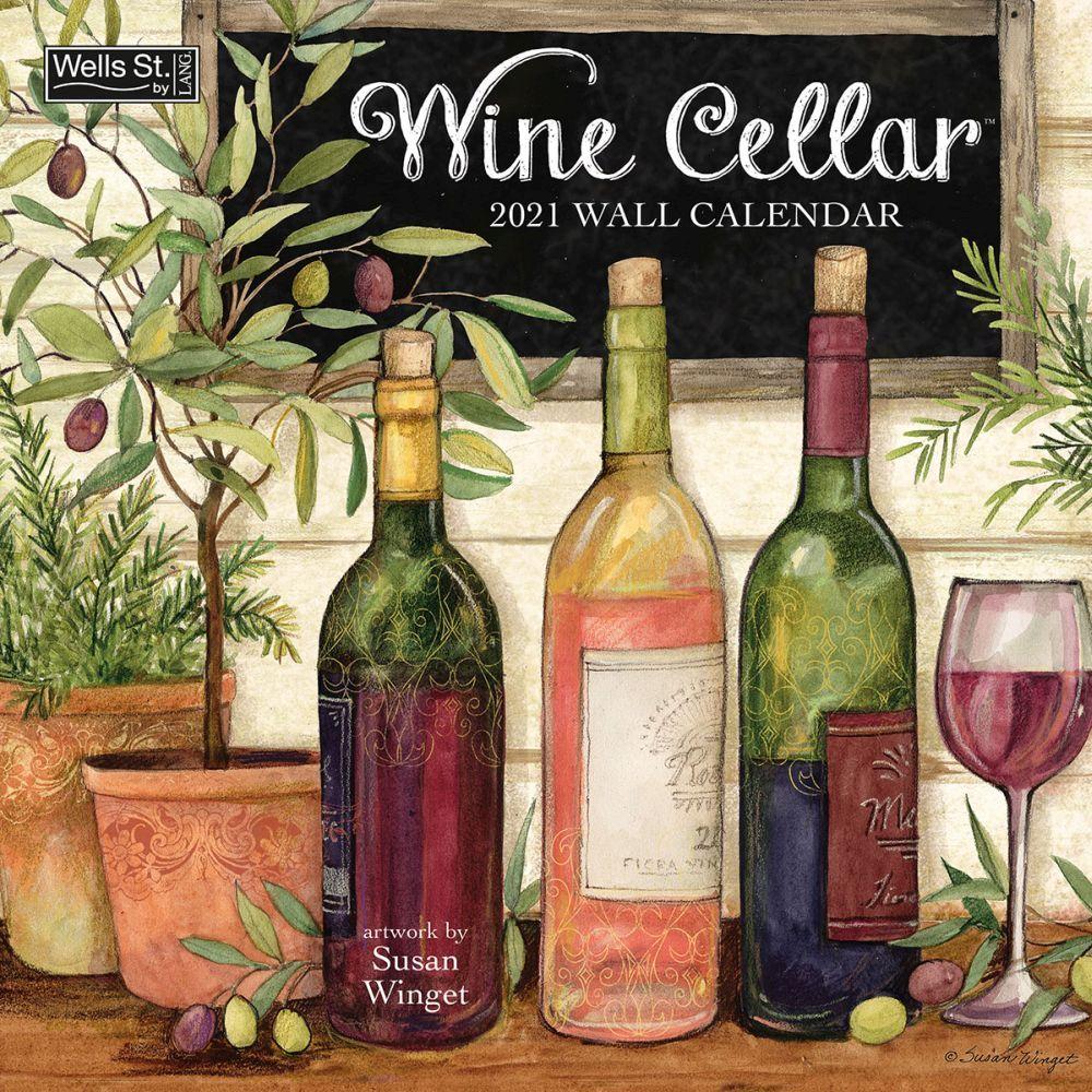 Susan Winget Wine Cellar 2021 Wall Calendar