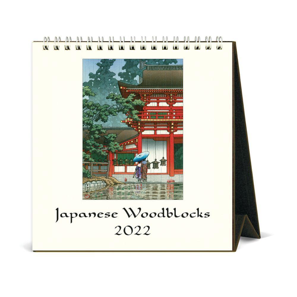 Japanese Woodblocks Art 2022 Easel Calendar