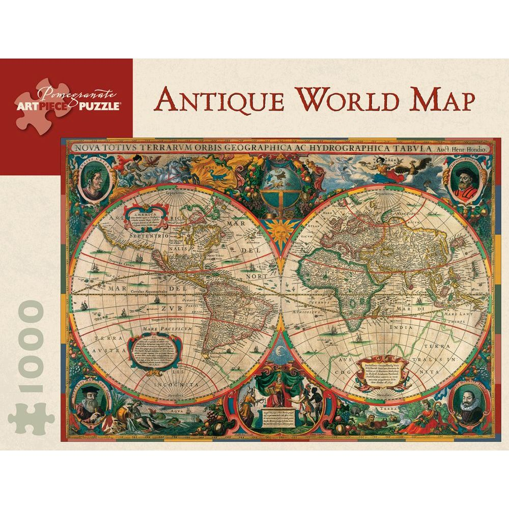 Best Antique World Map 1000 Piece Puzzle You Can Buy