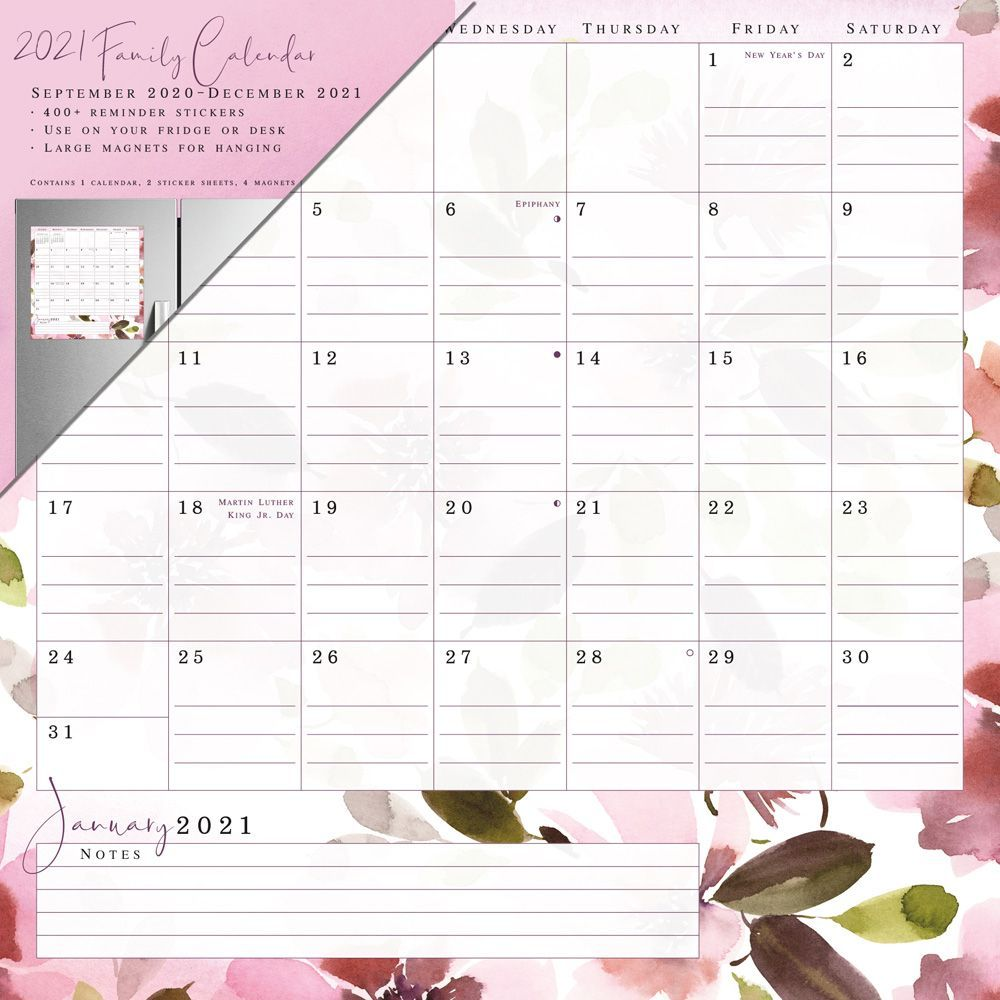 2021 Beauty and Light Magnetic Calendar