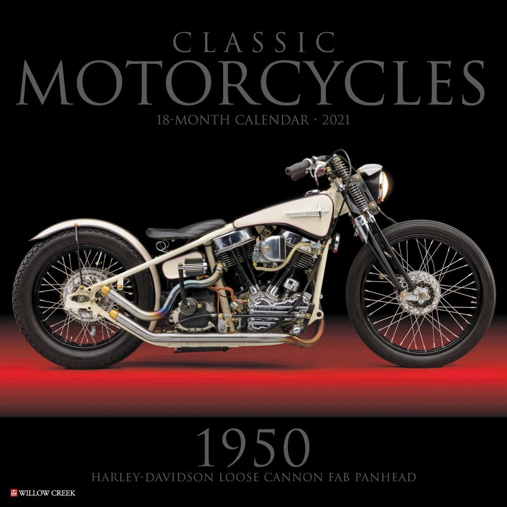 Classic Motorcycles Wall Calendar