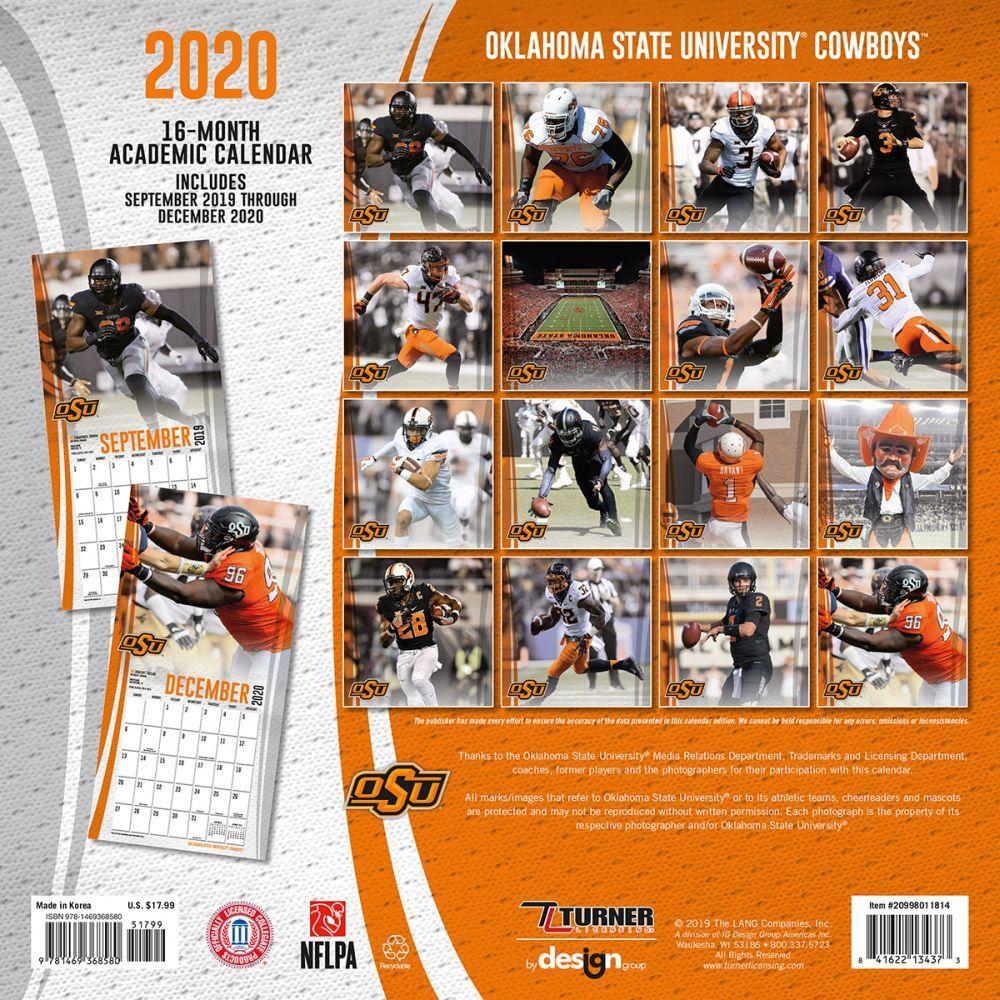 Okstate Academic Calendar 2022.Oklahoma State Cowboys Wall Calendar Calendars Com