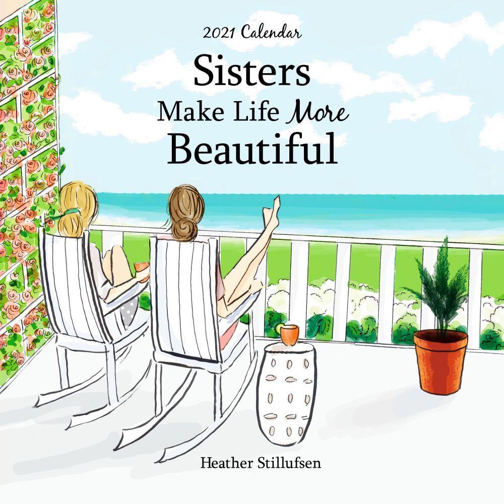 2021 Sisters Make Life More Beautiful Mini Wall Calendar