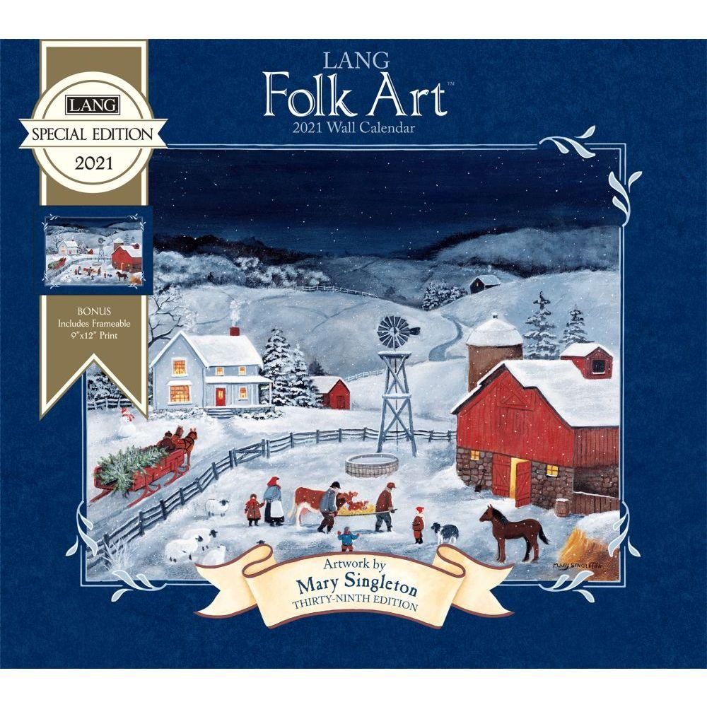 2021 Lang Folk Art Special Edition Wall Calendar