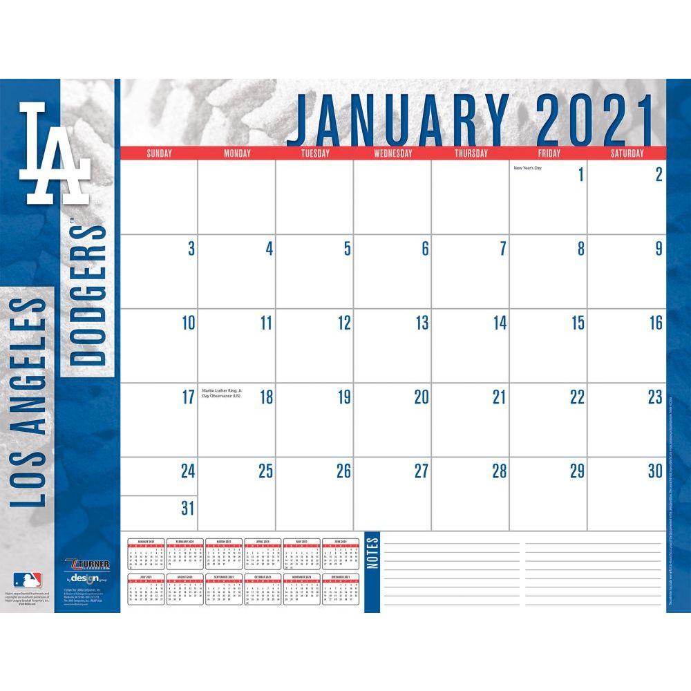 Los Angeles Dodgers 2021 Desk Pad