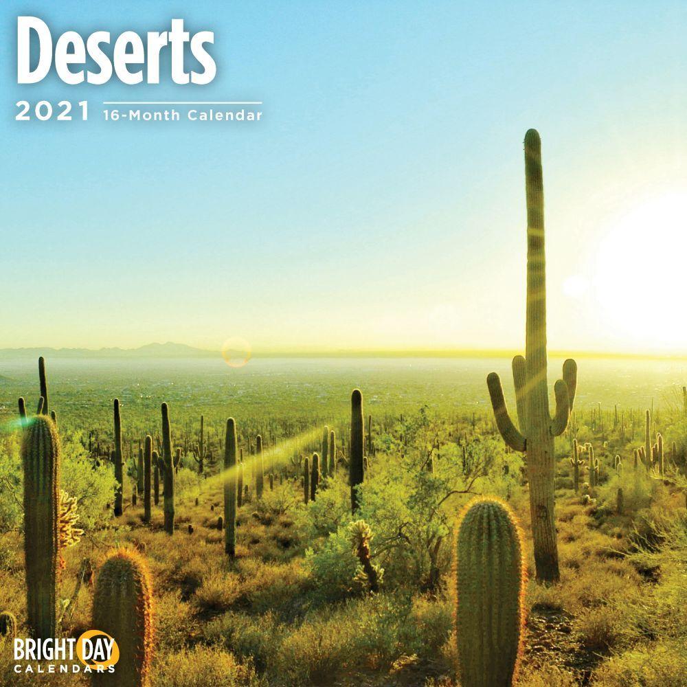 2021 Deserts Wall Calendar