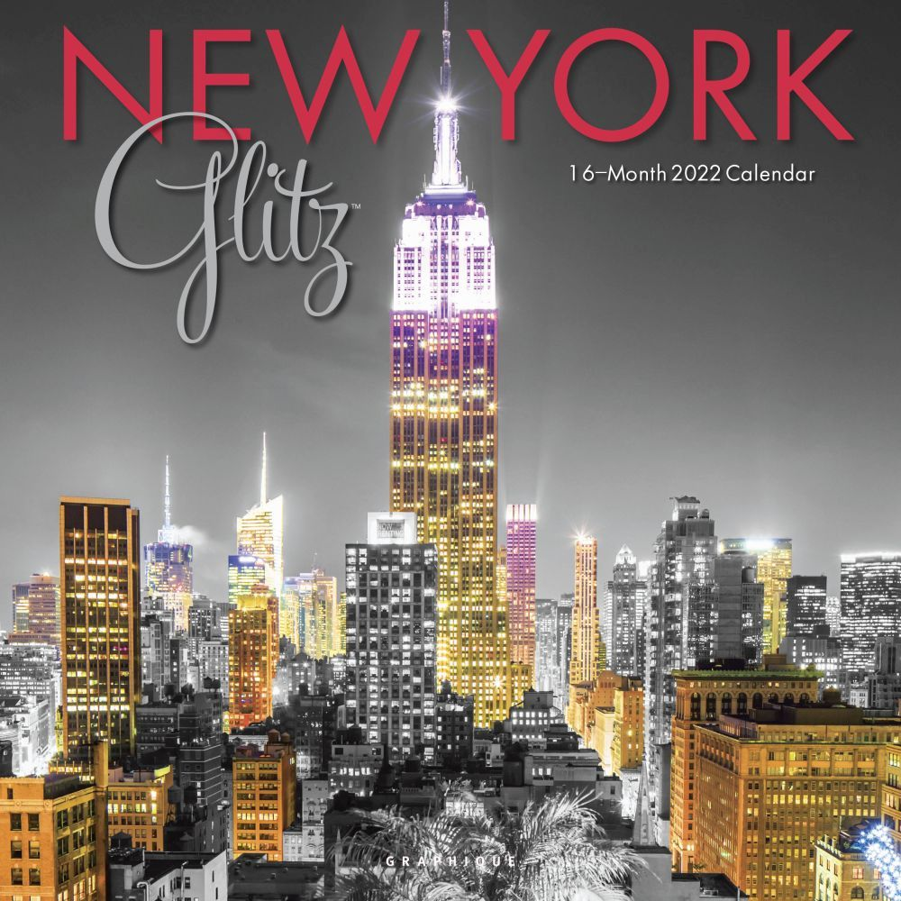 New York 2022 Glitz Wall Calendar