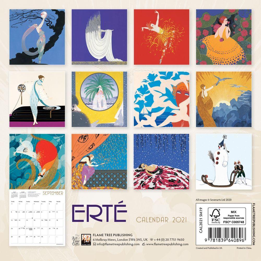 Erte Mini Wall Calendar - Calendars.com