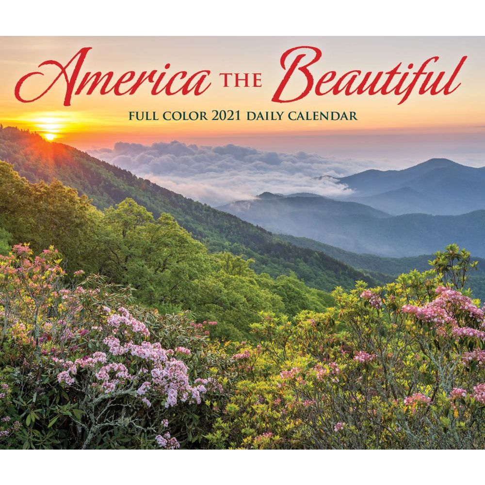 2021 America the Beautiful Desk Calendar