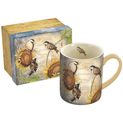 Sunflower | Coffee | Bird | Mug
