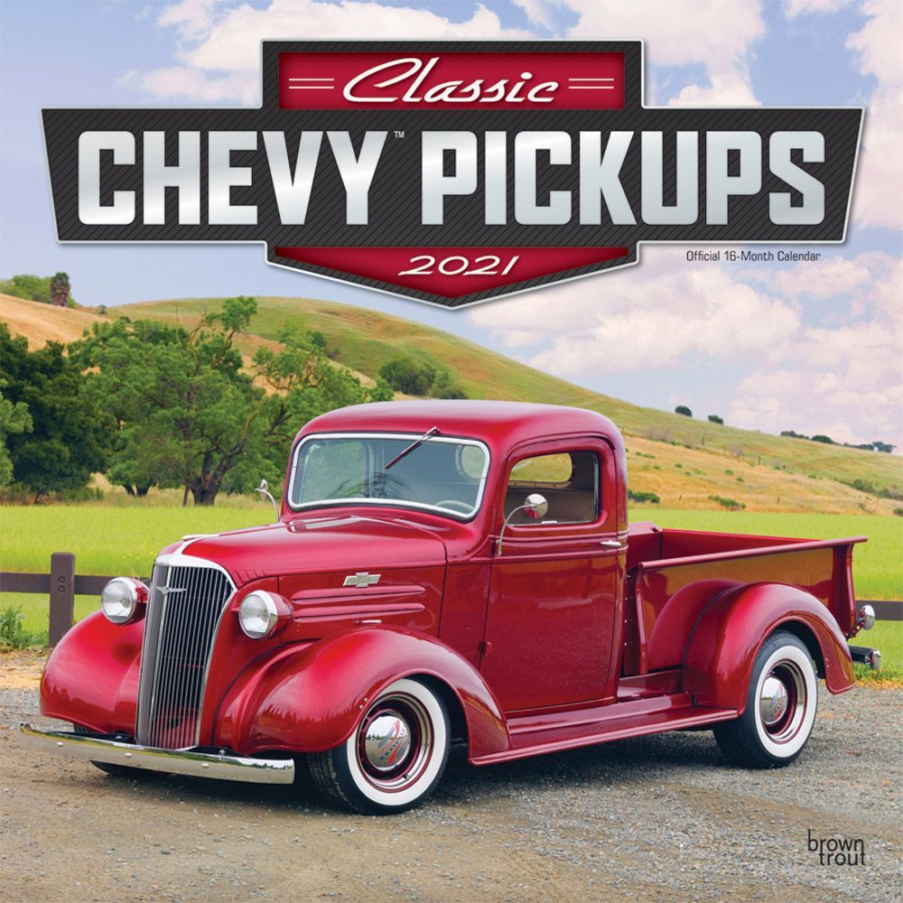2021 Pickups Classic Chevy Wall Calendar