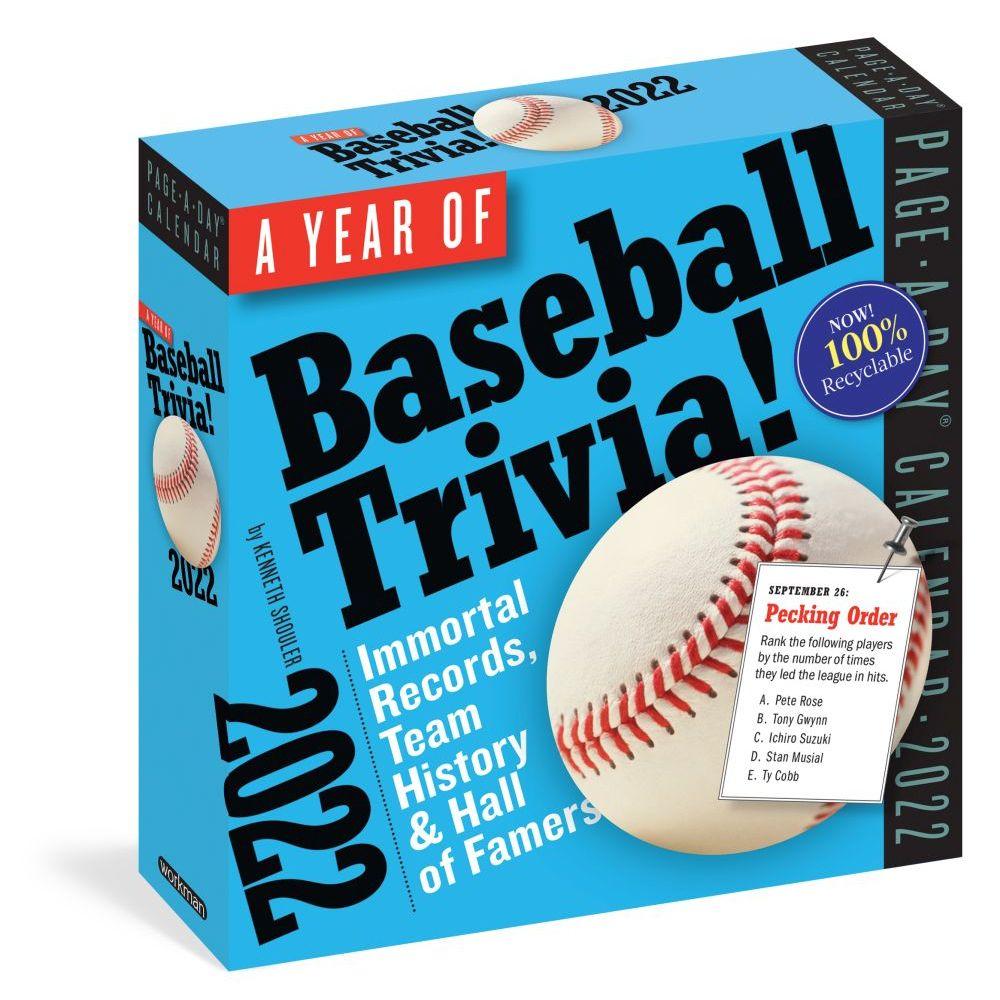 365 Days of Baseball Trivia 2022 Desk Calendar