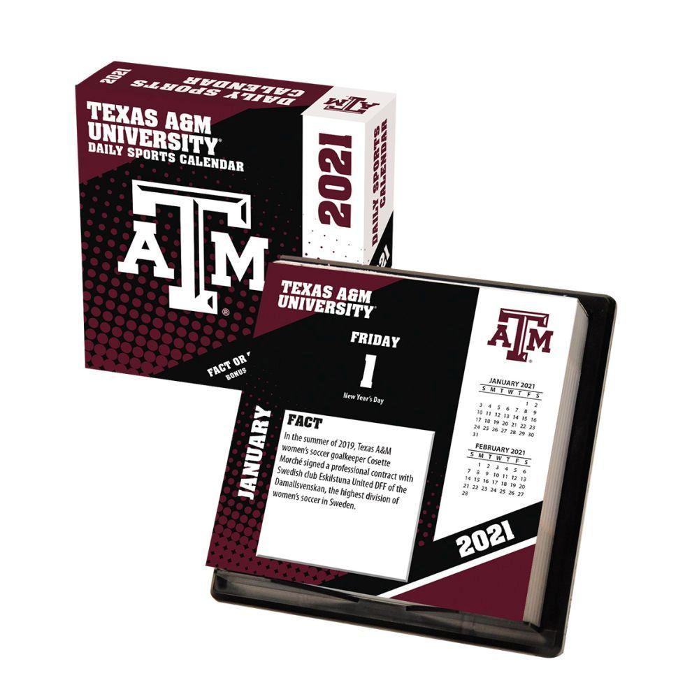 2021 Texas A&M Aggies Desk Calendar