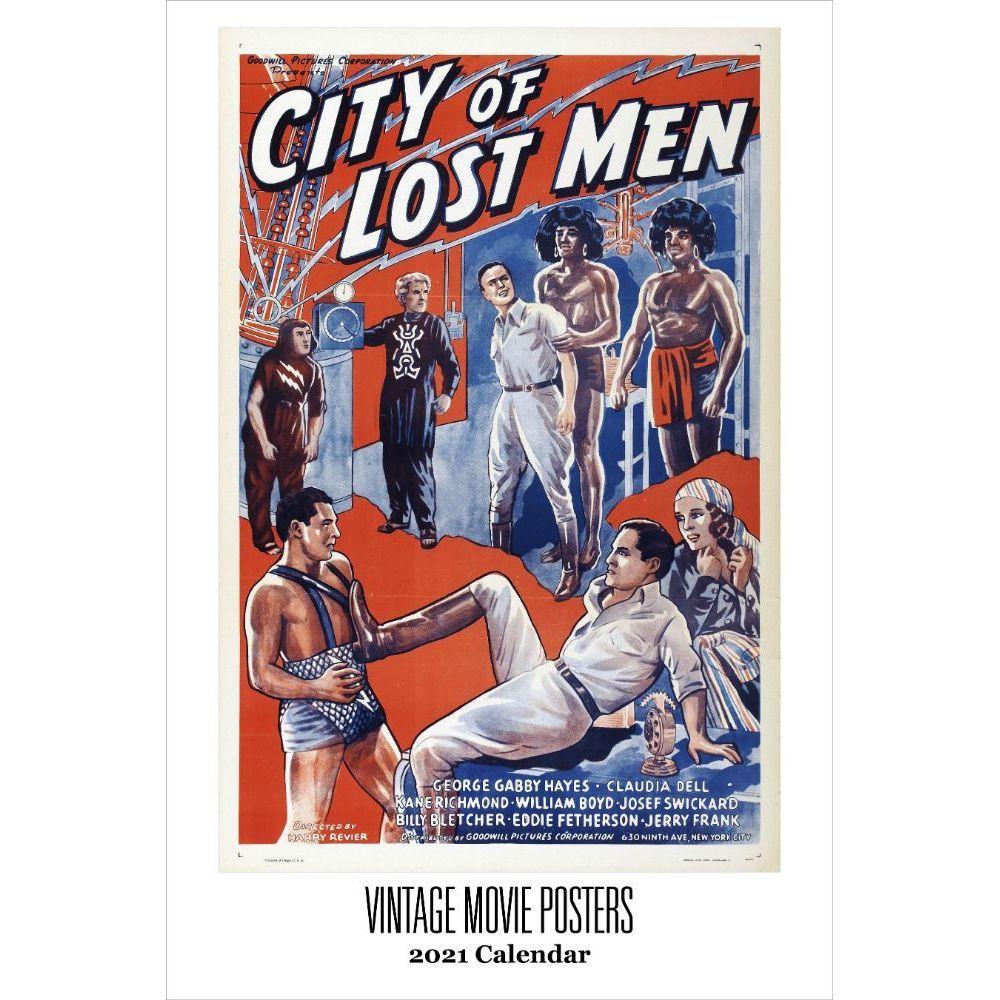 Vintage Movie Posters 2021 Wall Calendar