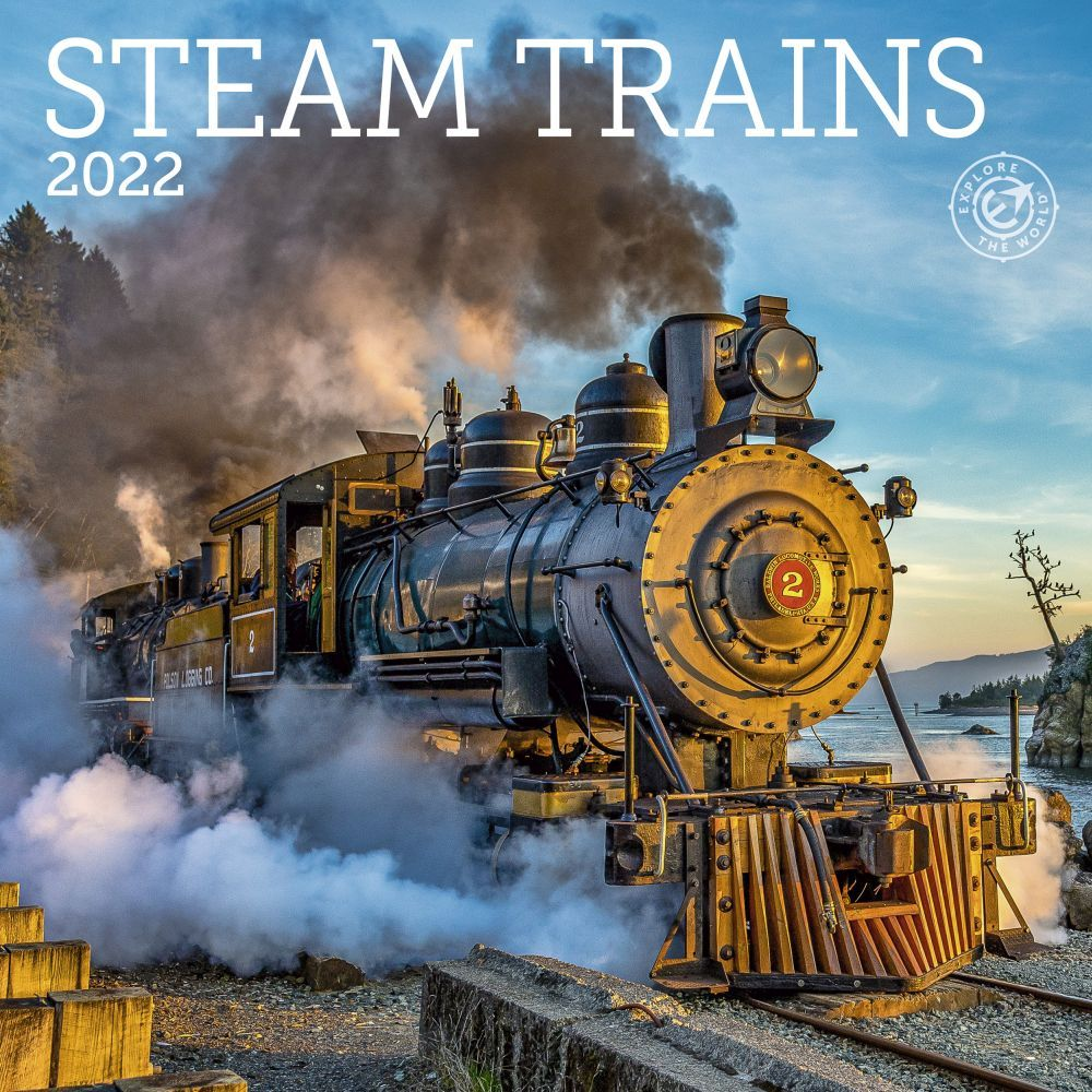 Steam Trains 2022 Mini Wall Calendar