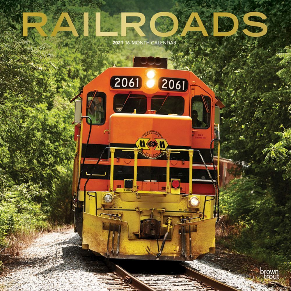 2021 Railroads Wall Calendar