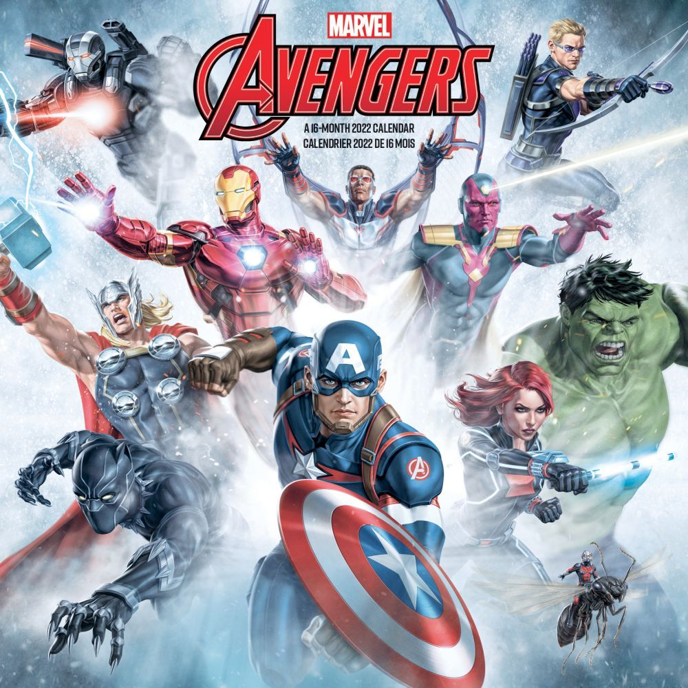 Avengers 2022 Wall calendar (Bilingual French)