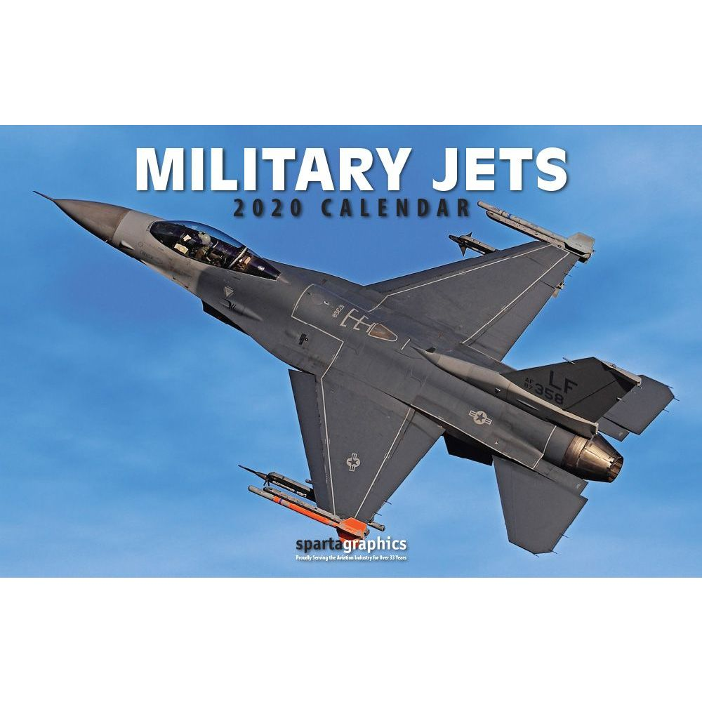 2021 Military Jet Deluxe Wall Calendar