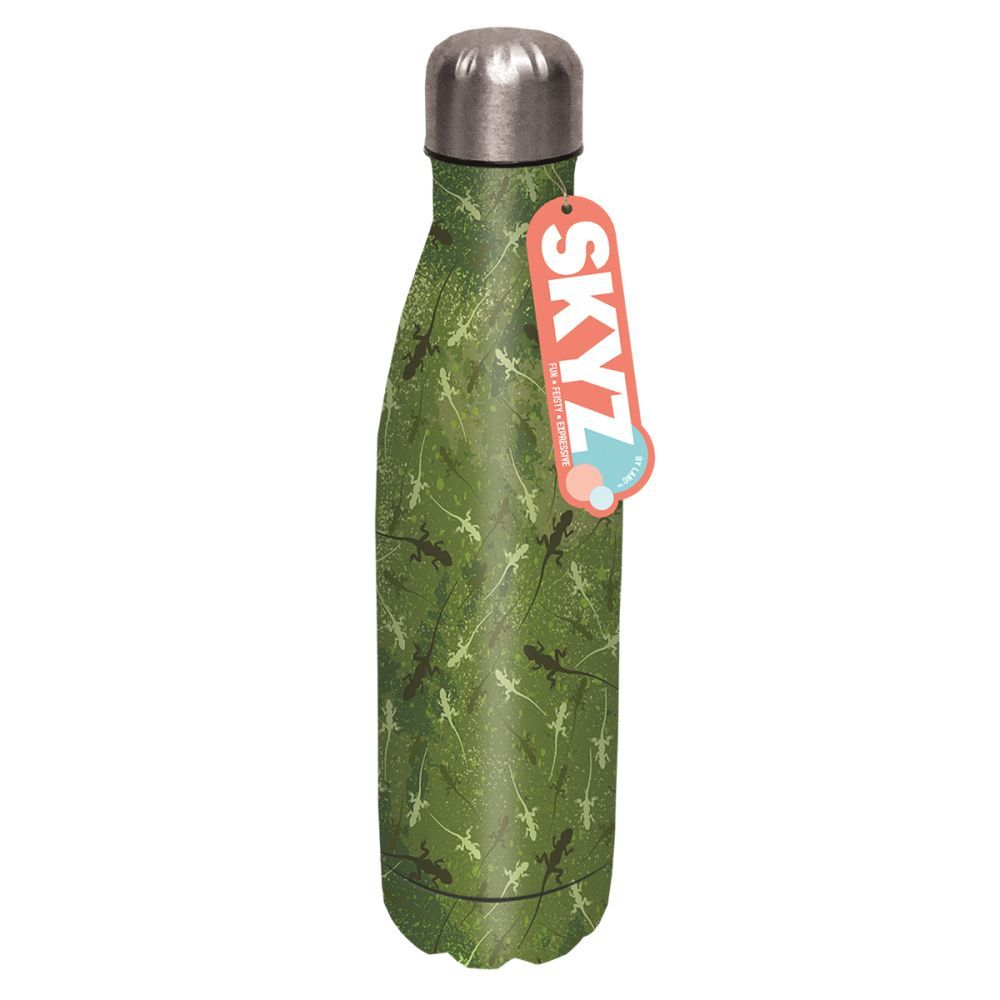 HERE LIZARD, LIZARD STAINLESS STEEL WATER BOTTLE-4