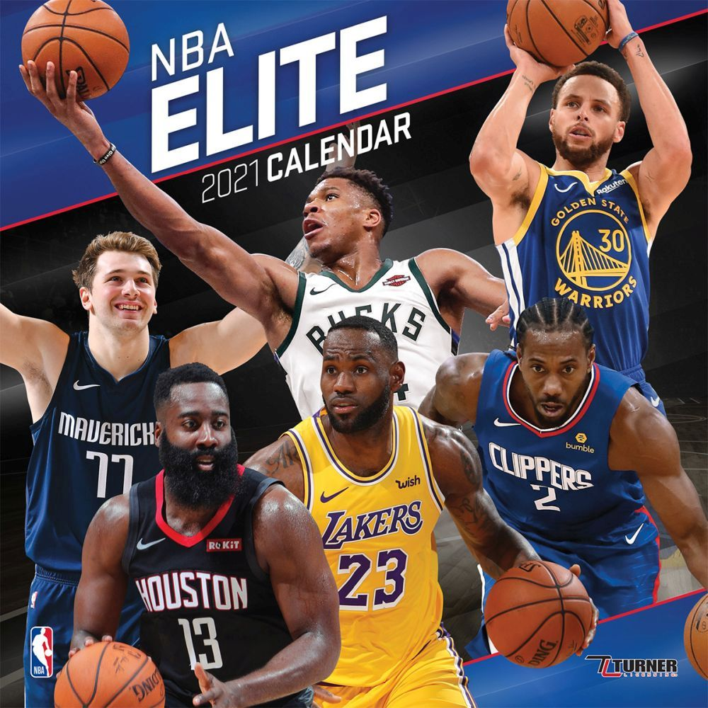 2021 NBA Elite Mini Wall Calendar