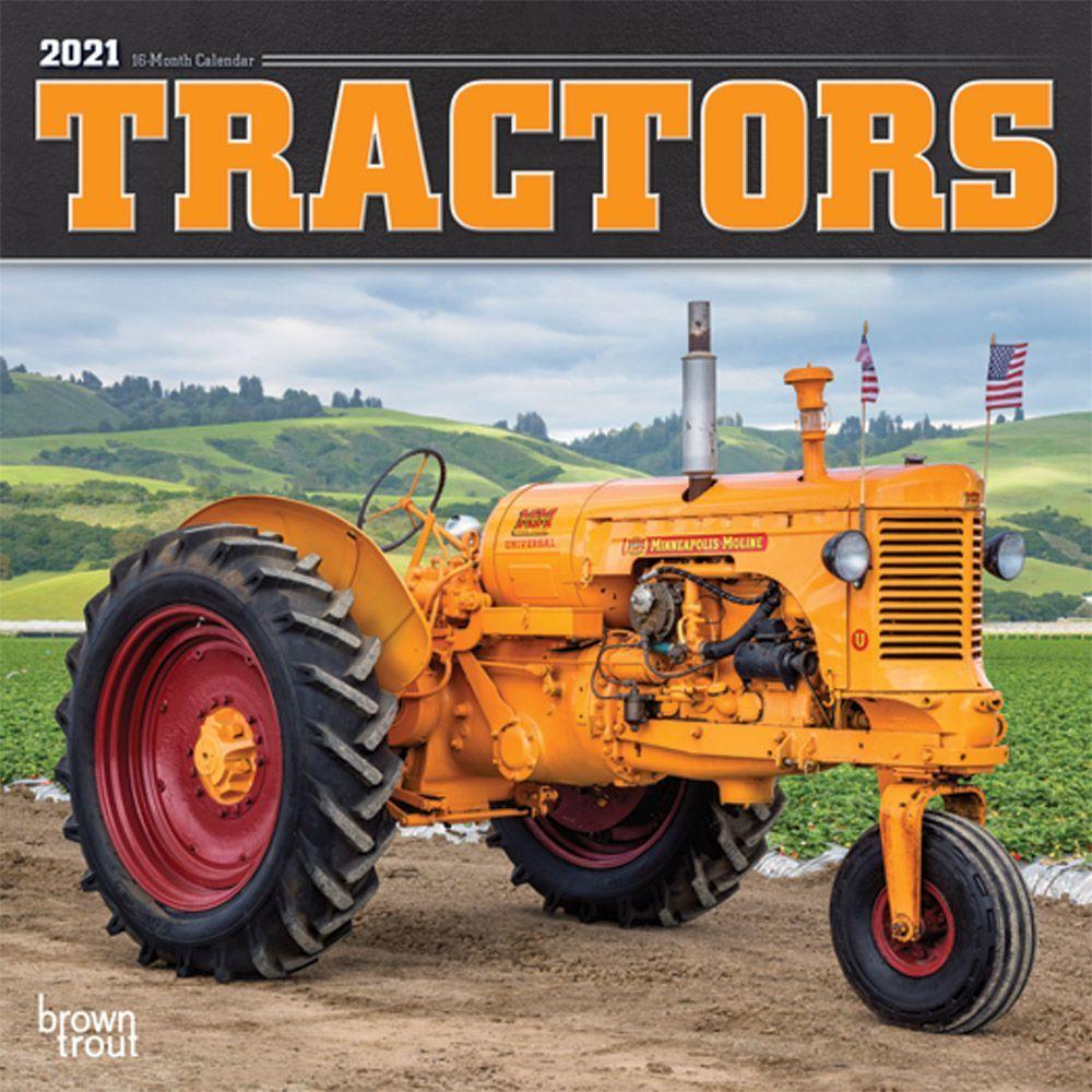 2021 Tractors Mini Wall Calendar