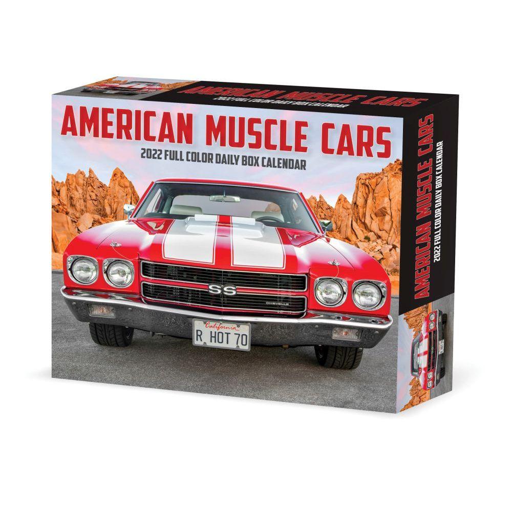 American Muscle Cars 2022 Desk Calendar