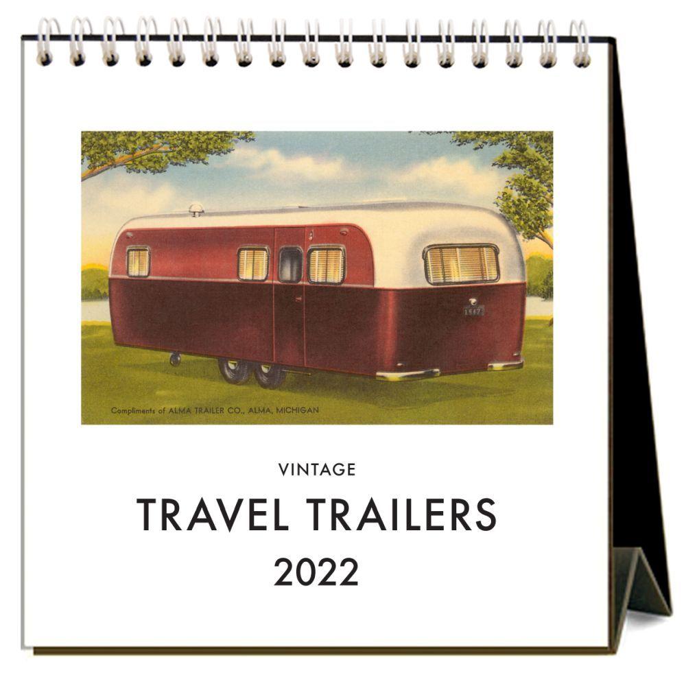 Travel Trailers 2022 Desk Calendar
