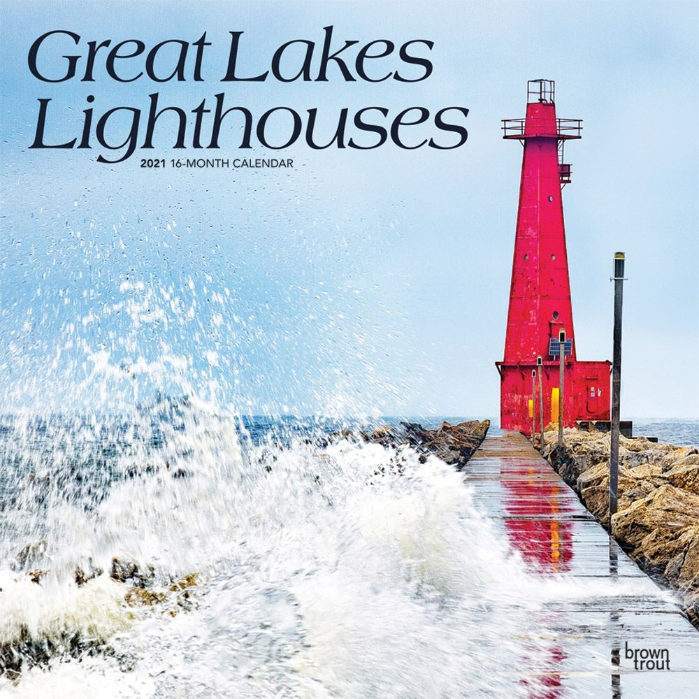 2021 Lighthouses Great Lakes Wall Calendar