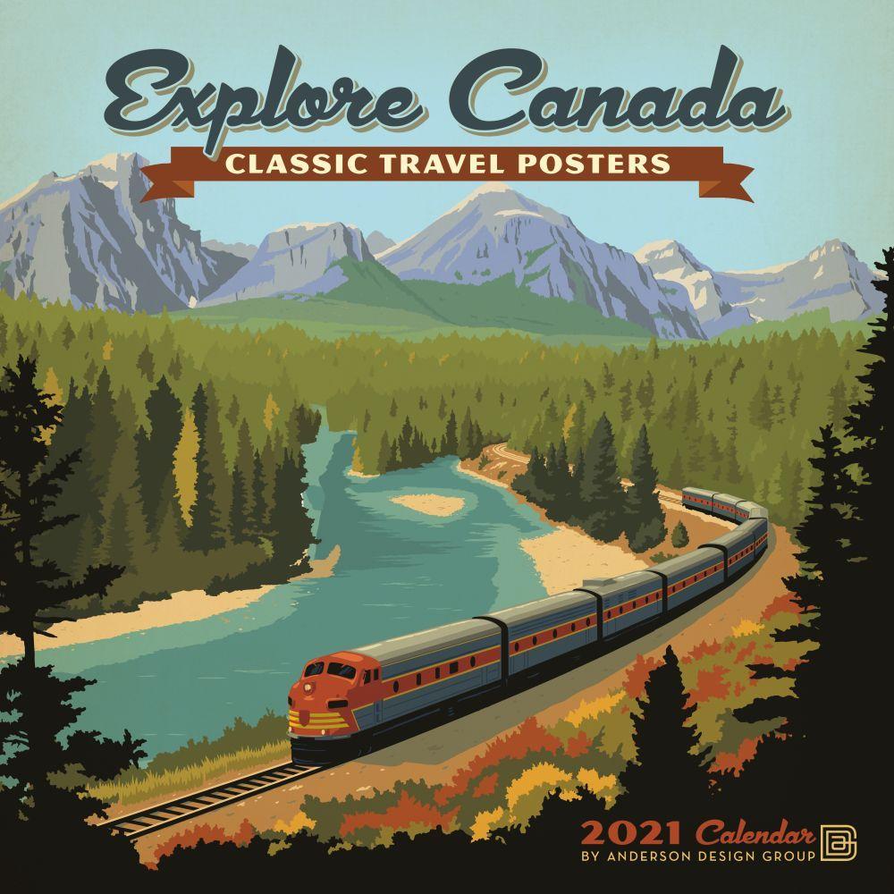 2021 Explore Canada Classic Posters Wall Calendar