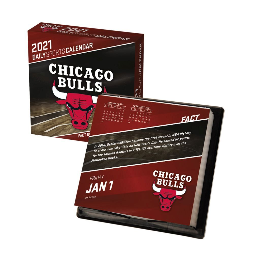 2021 Chicago Bulls Desk Calendar
