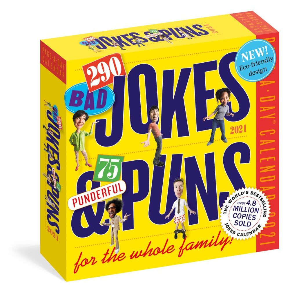 Jokes and Puns 2021 Desk Calendar