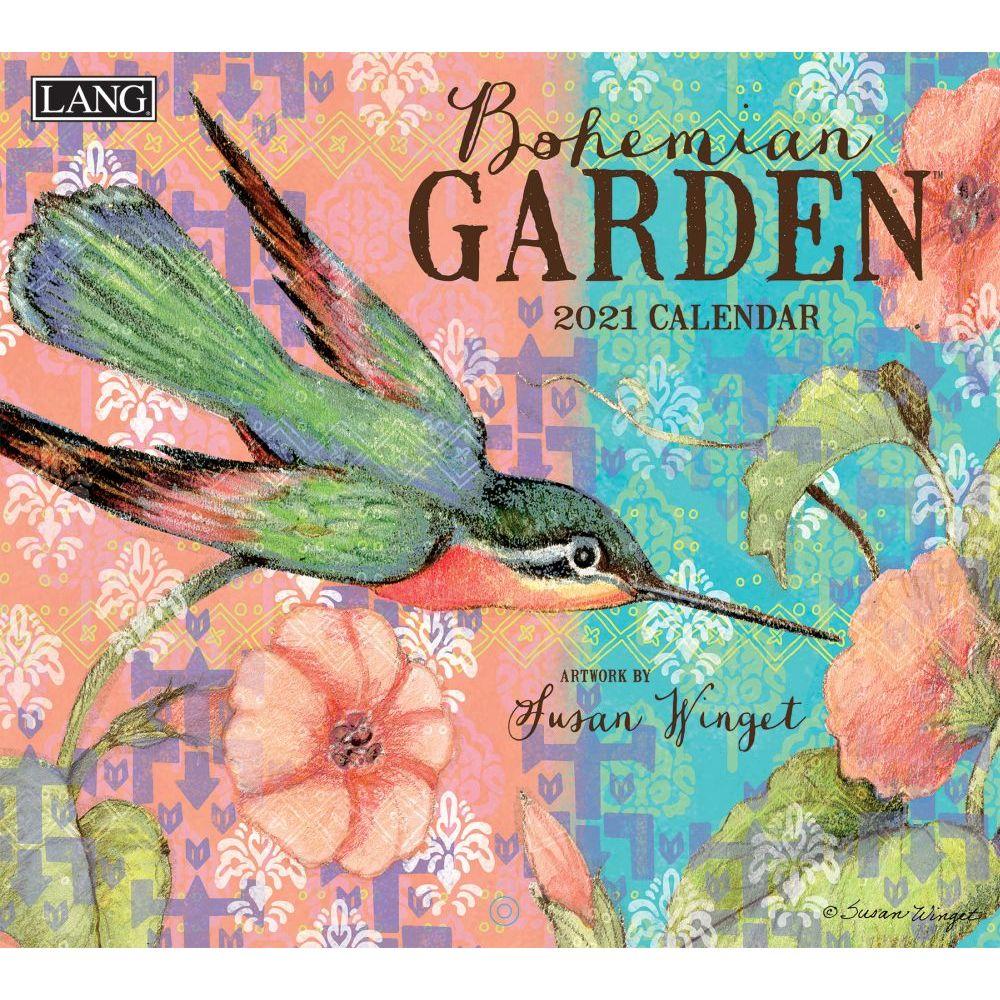 Susan Winget Bohemian Garden 2021 Wall Calendar
