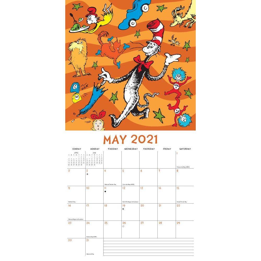 Dr. Seuss Wall Calendar   Calendars.com